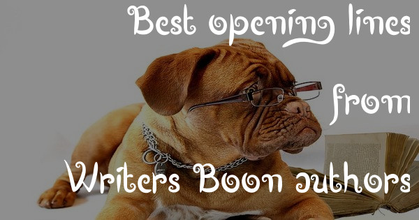 Best opening lines from Writers Boon authors