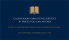 Affordable, quality book formatting-Caleb's Book Formatting Services