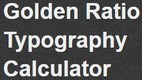 Golden Ratio Typography Calculator-Chris Pearson